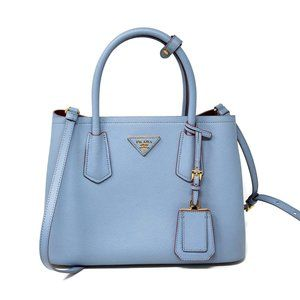 Prada Double Cuir Lux Saffiano Small CrossbodyBag